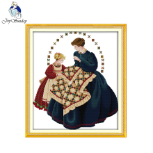 Joy sunday figure style Needlewomen counted cross stitch sampler patterns kits embroidery painting by hand