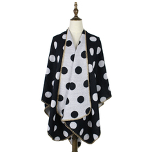 poncho feminino inverno wraps and capes women polka dots cashmere wool scarf shawls 450g open reversible wrap tippet