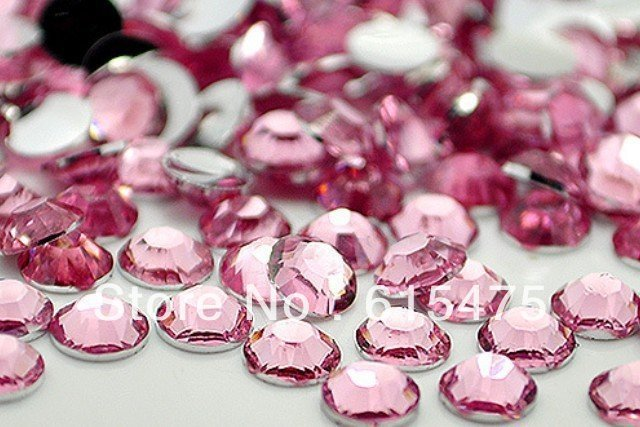 4mm Pink Color,SS16 crystal Resin rhinestones flatback,Free Shipping 50,000pcs/bag