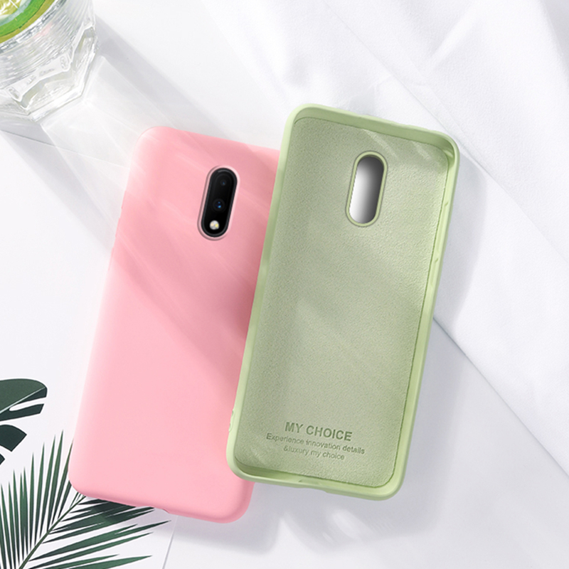 For <font><b>Oneplus</b></font> 7 Pro <font><b>Case</b></font> <font><b>Oneplus</b></font> 7Pro Cover Soft Liquid Silicone Candy Back Cover For <font><b>Oneplus</b></font> <font><b>6T</b></font> 6 7 <font><b>Case</b></font> Protective <font><b>Case</b></font> <font><b>Bumper</b></font> image