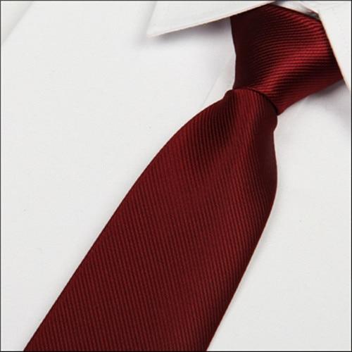 SHENNAIWEI 2016 New 8cm Wine Red Silk Tie Men's Microfiber Neckties Fashion Gravata Slim Striped Dark Red Neck Ties Atacado