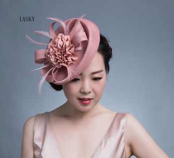 New Luxury Women Fascinator Headdress BIg Flower Feather Bride Headwear Hair Clip Fashion Race Dinner Party Derby Fascinator Hat - DISCOUNT ITEM  16% OFF All Category