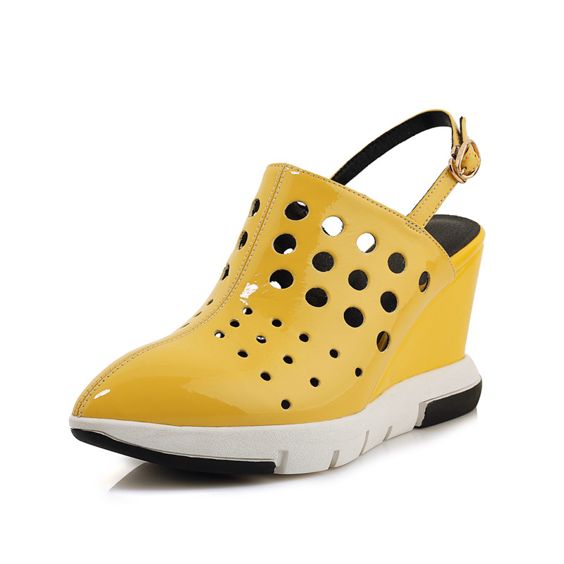 Sandalias Verano Tacones Hebillas Negro Plataforma Cuñas Correa Moda  Caliente Zapatos Venta amarillo De Lapolaka Mujer qCYpq 15e3d6af7ff3