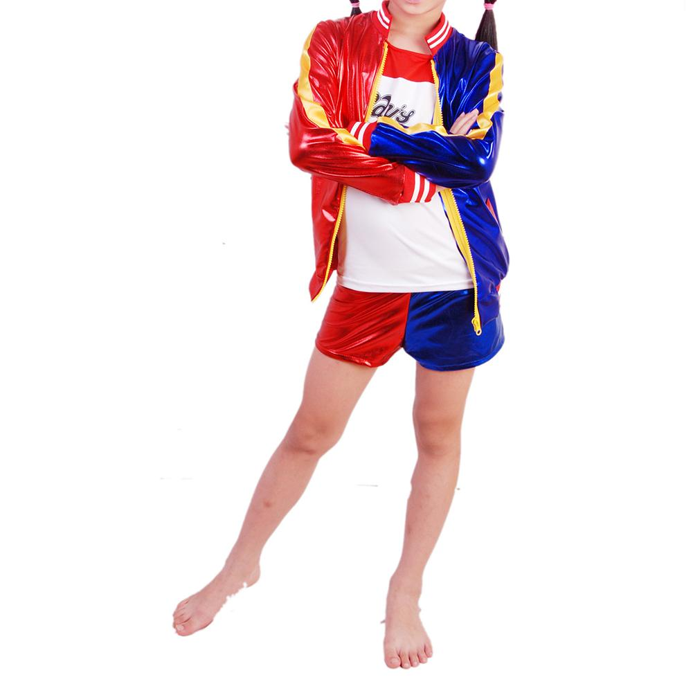Halloween Products New Children's Role-playing Harley Quinn Children's Costume Suit