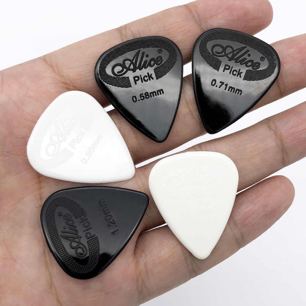 12 peças alice guitarra escolher não-deslizamento preto branco mediador de náilon para acústico guitarra elétrica ukulele acessórios