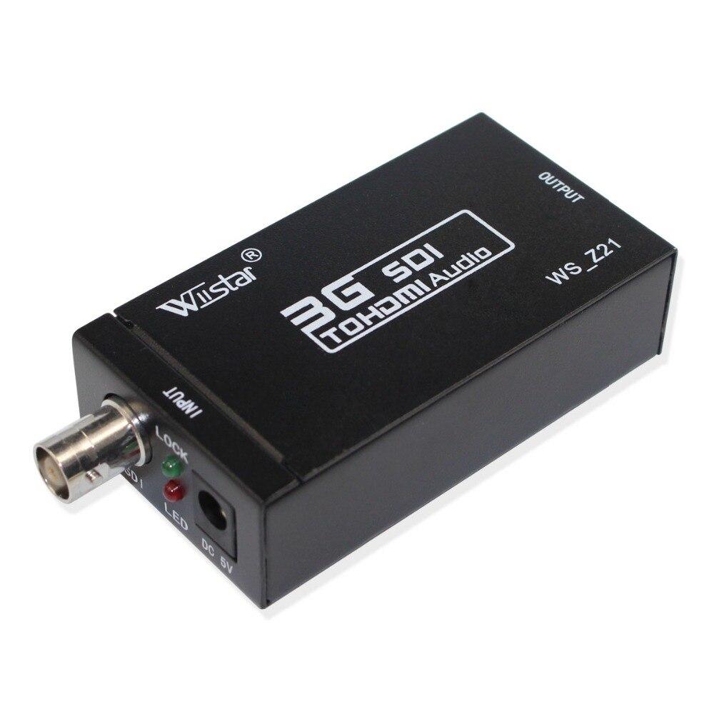 Wiistar Nouvelle Arrivée SDI vers HDMI Audio Vidéo Convertisseur BNC à HDMI Adaptateur HD 3g SDI vers HDMI pour moniteur HDTV
