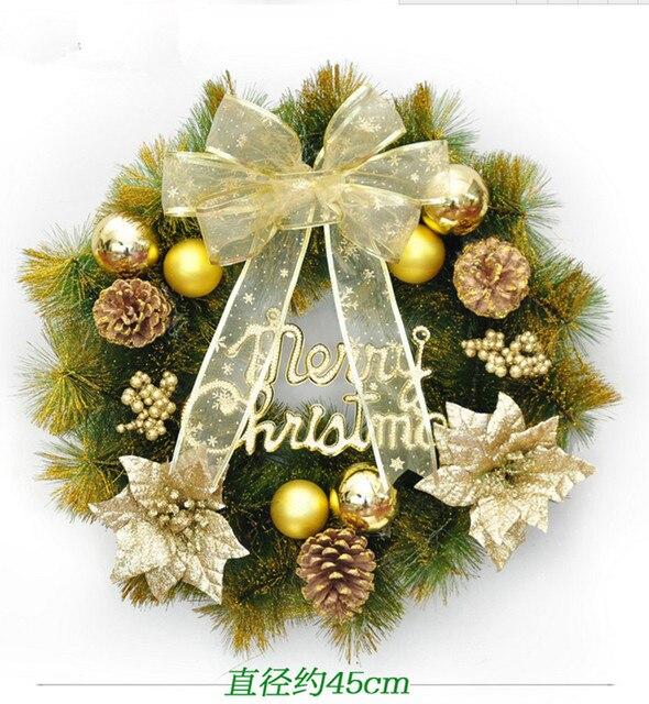 bloqueo puerta corona de navidad corona de navidad decorado rboles de navidad regalo de la decoracin - Rboles De Navidad Decorados