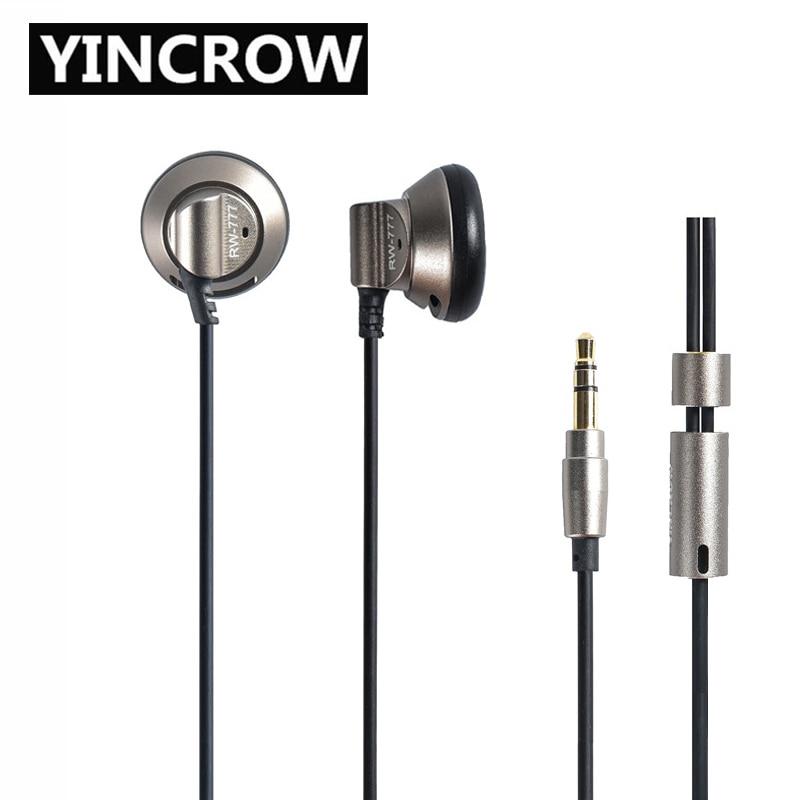 2019 Original YINCROW RW 777 In Ear Earphone Earbud Flat Head Plug Earplugs Earbud Metal Earphone