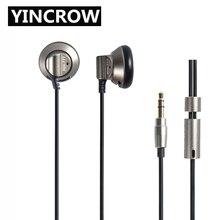 2019 Originele YINCROW RW 777 In Ear Oortelefoon Oordopjes Platte Hoofd Plug Oordopjes Oordopjes Metal Oortelefoon Headset Gratis Verzending