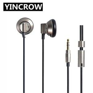 Image 1 - 2019 오리지널 yincrow RW 777 이어폰 이어폰 플랫 헤드 플러그 이어 플러그 이어 버드 메탈 이어폰 헤드셋 무료 배송