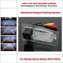 цена на Intelligent Parking Tracks Rear Camera For Mazda Axela BM / Mazda CX-3 Backup Reverse / NTSC RCA AUX HD SONY CCD 580 TV Lines