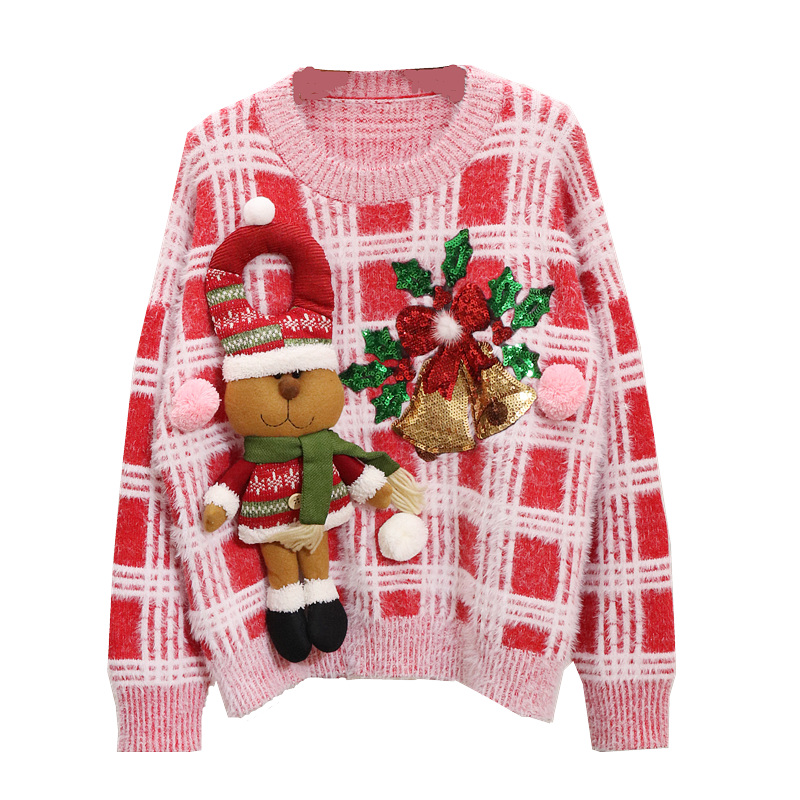 Kersttrui Dames 2019.New Sweater Women Christmas Sweater Ugly Christmas Sweater Kerst