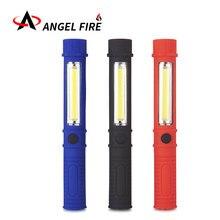 Многофункциональный COB светодиодный мини-фонарик для осмотра, фонарик с нижним магнитом и зажимом, черный/красный/синий