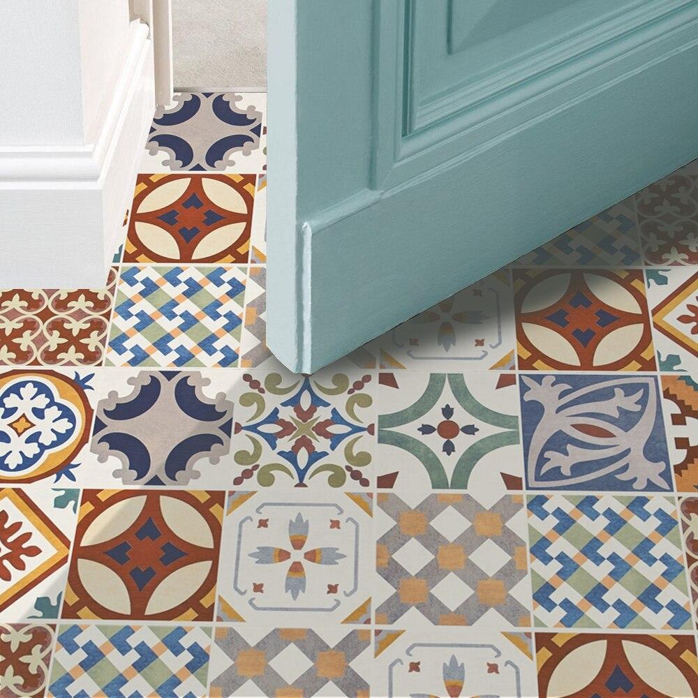 Funlife Turkish Ceramic Tiles Removable Waterproof Seamless Anti ...