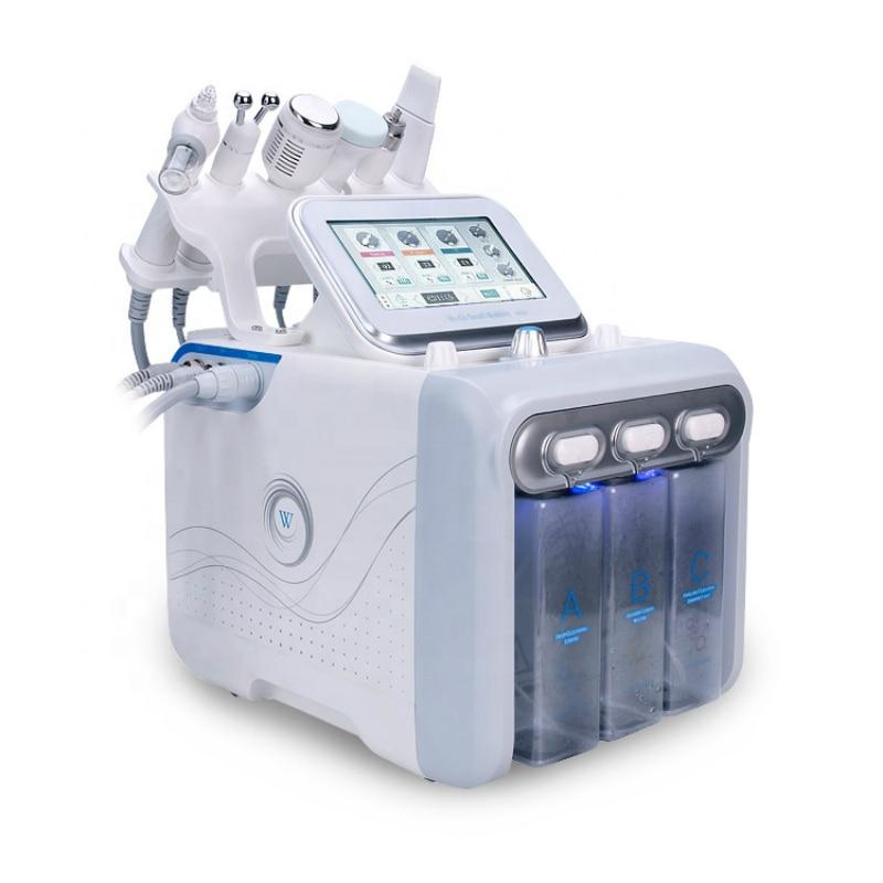 2019 Nuovo della pelle della macchina 6 in1 Diamante Dermoabrasione Hydro Acqua macchina ad alta frequenza ad ultrasuoni BIO MICRO CORRENTE - 2