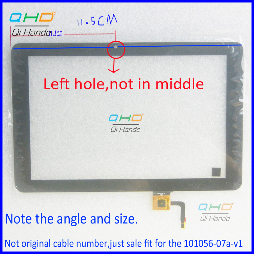 Black New for Capacitive Touch screen digitizer panel Glass Sensor 101056-07A-V1 Replacement 10.1 inch Tablet Free Shipping touch screen touch glass panel ft as00 12 1 a new
