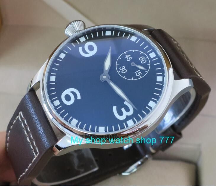 все цены на 44mm PARNIS ST3621/6498 Mechanical Hand Wind movement Mechanical watches men's watches wholesale o46 онлайн