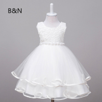 B N Floral Print Princess Dress Formal Girl Dress For Party And Wedding Sweet Girls Clothing