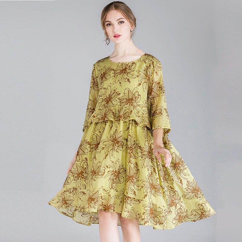 ARTFFEL Mens Plus Size Big and Tall Casual Plaid Long Sleeve Loose Dress Checkered Shirt