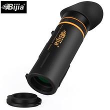 Bijia 10*42 монокуляр телескоп оптика полностью покрытые качество hd mini монокуляр lll ночного видения охота концерт зрительная труба