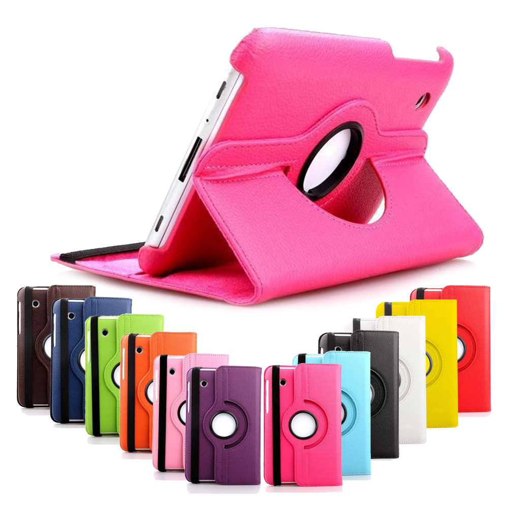 for Samsung Galaxy Tab 2 P3100 P3110 P3110 7 inch Tablet Case 360 Rotating Stand Folio Leather Protective Tablet Cover