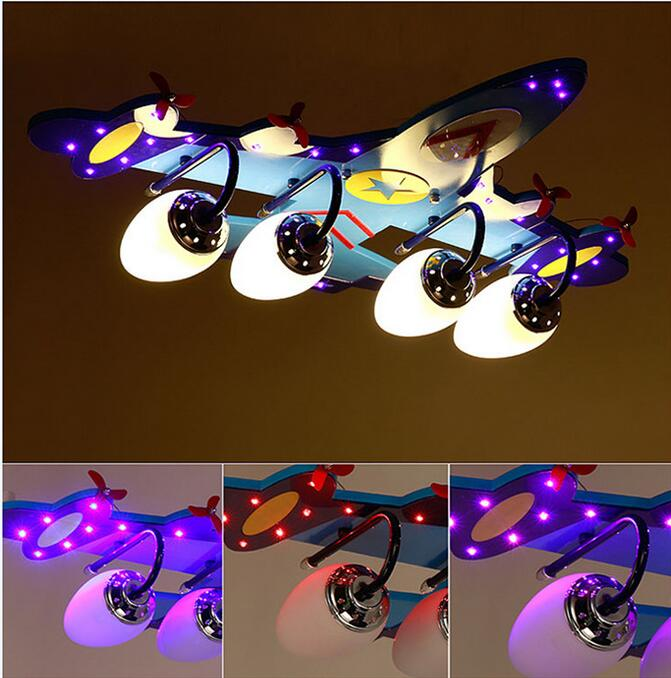 New Plane LED Ceiling Light Lamp Lighting Kid Boy Dream Jet Fly Bedroom Lighting livingroom Blue Child Flight