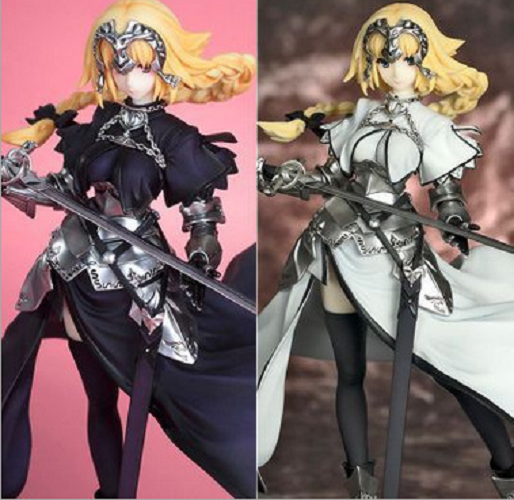 Popular Brand 25cm Fate Stay Night Zero Saber Apocryphe Jeannedarc Joan Of Arc With Flag Japanese Anime Figures Action Toy Figures Pvc Model Toys & Hobbies