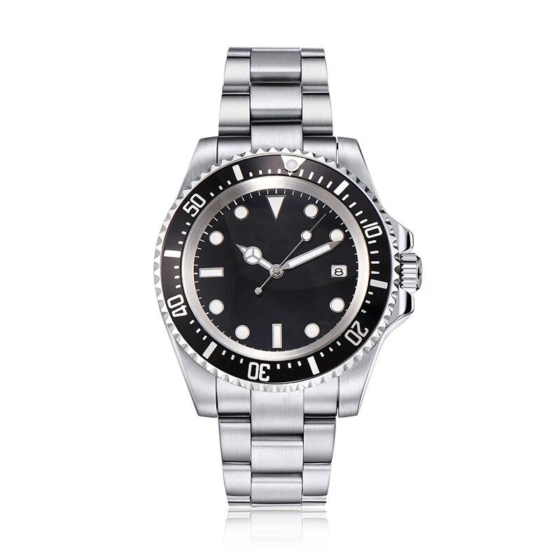 Parnis 40 мм стерильный циферблат автоматические механические мужские часы из нержавеющей стали ремешок GMT Diver Мужские часы saatler mekanik мужские ча