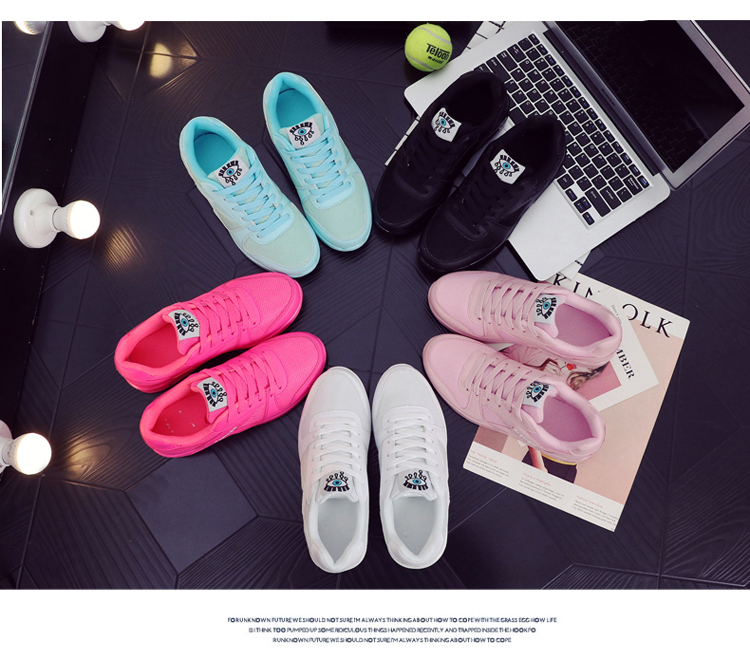 18 Fashion Sneakers Women Shoes Spring Tenis Feminino Casual Shoes Outdoor Walking Shoes Women Flats Pink Flas Ladies Shoes 31