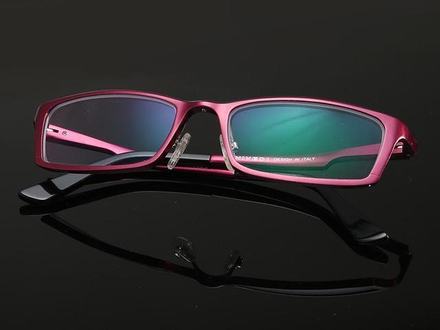 2015 qualidade da moda de alumínio e magnésio óculos enquadrar a tendência de a pequena caixa de óculos simples quadro miopia para as mulheres
