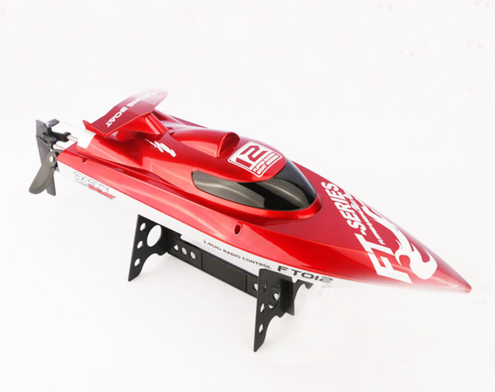 Hot Sell New FT012 2.4G Brushless RC Racing Boat RTR Speedboat Upgraded FT009 Red&black F15277 rc ship&boat as best gift купить