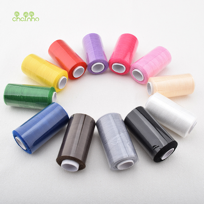 12 Spools/lot, Multi Color Polyester Thread For Sewing & Quilting,High Quality Sewing Thread Suitable For Needlework & Machine