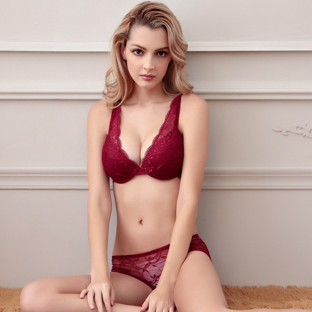 be605d1f6 Sexy Underwear Women Bra Set 2019 New Lingerie Set Luxurious Vintage Lace  Embroidery Push Up Bra And Panty Set
