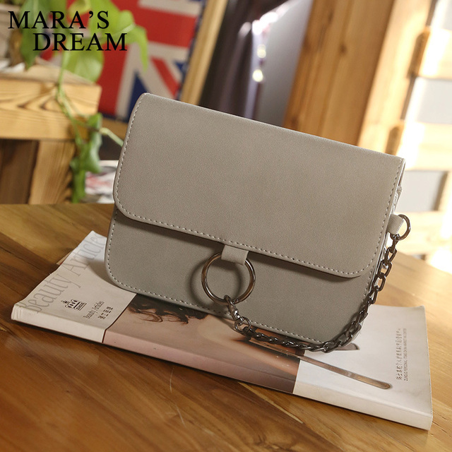 Fashion Leather Small Flap Women Crossbody Bag Chain Messenger Shoulder Bag