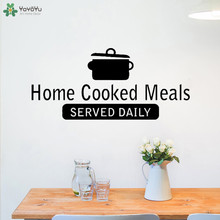 YOYOYU Wall Decal Cooked Meals Daily Quote Sticker Kitchen Decoration Houseware Cafe Window PVC Decor Home Wallpaper CY641