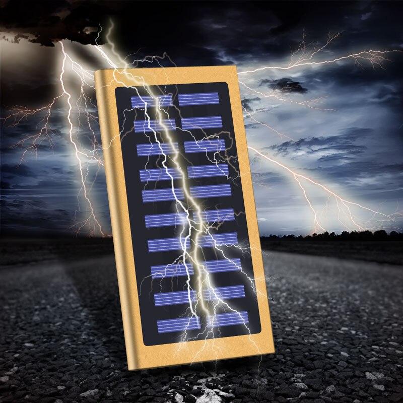 Новый бренд 20000 мАч Портативный Солнечный Мощность зарядный банк резервного копирования Питание Батарея случае Мощность Зарядное устройст…