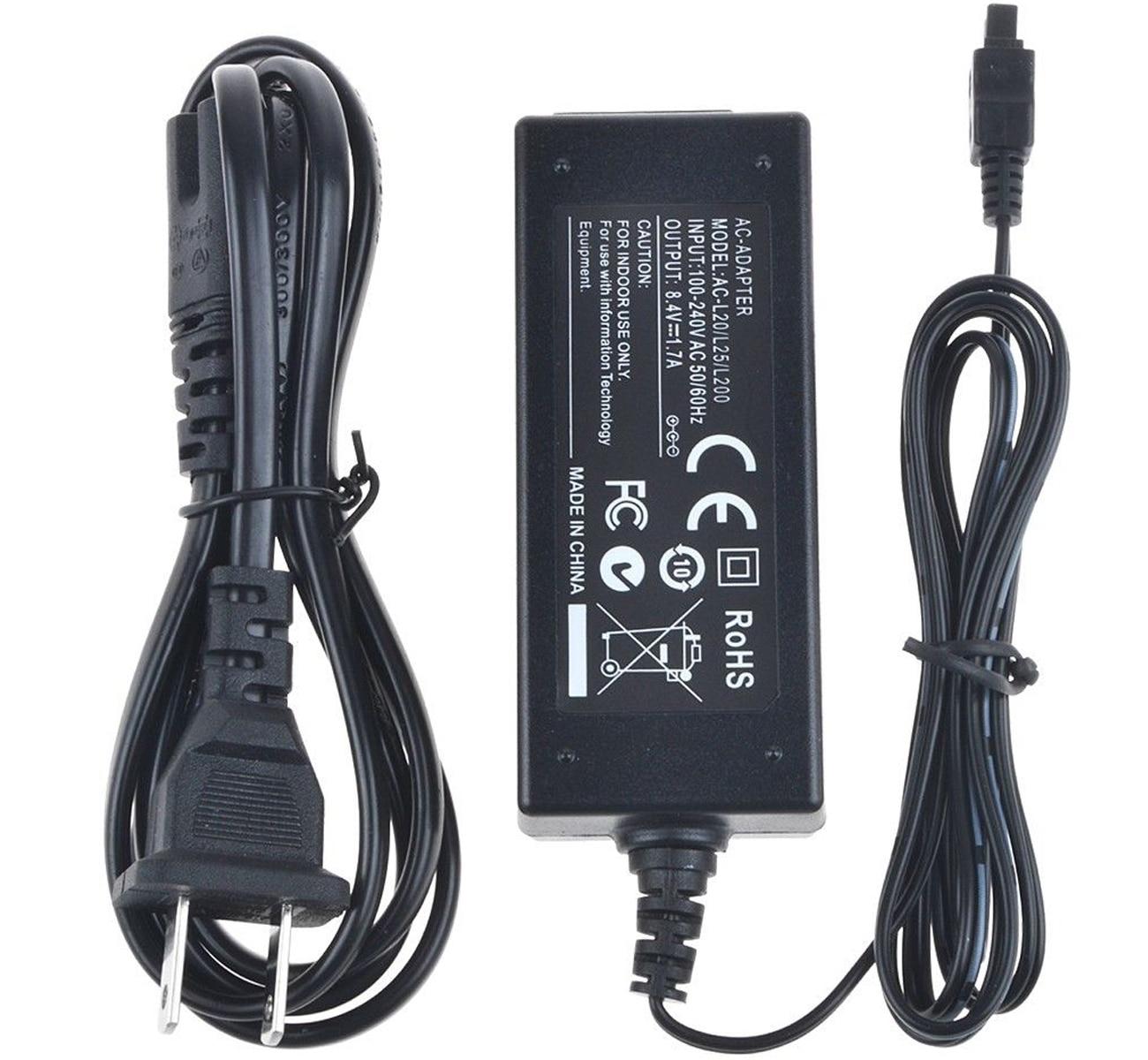 AC Battery Power Charger Adapter For Sony Camcorder DCR-SR67 E DCR-SR68 E