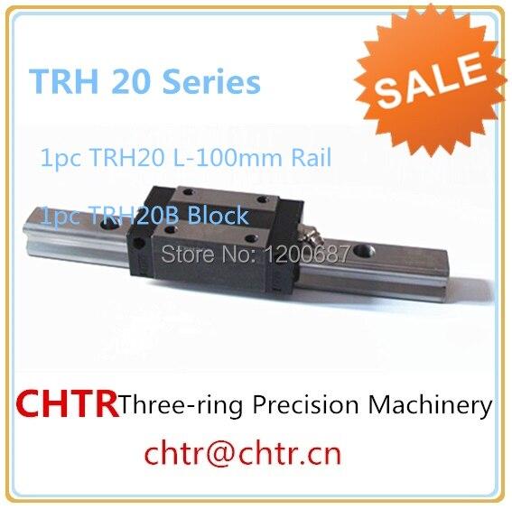 CHTR cnc router parts linear motion guideway  (1pc TRH20 L-100mm linear  Rail+1 pc TRH20B Pillow  Block) linear guide motion reasonable price guideway rail toothed belt drive for laser machine mechanical parts