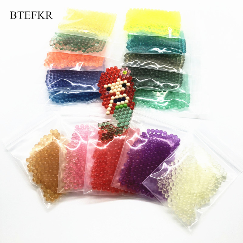 15 Colors Crystal Water Spray Beads 3D Puzzle Toys Water Sticky Beads Toys Juguetes Puzzle Jigsaw Educational Toys 100PCS/Bag