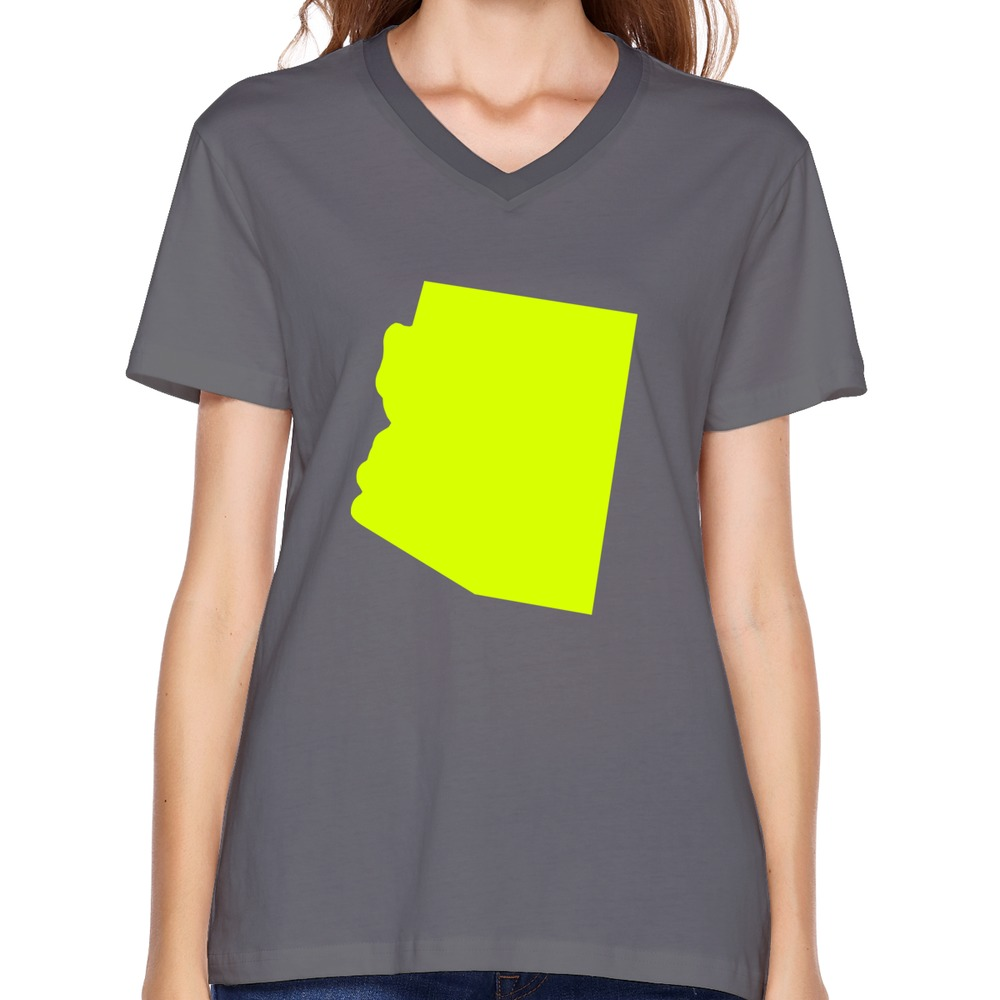 Print company short sleeve women t shirts funny state of for Print company t shirts