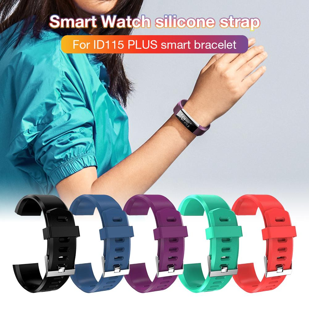 Image 2 - Silicone Replacement Strap Soft Scratch Resistant Wrist Band Watchband Fitness Tracker Comfortable For ID115 Plus-in Smart Accessories from Consumer Electronics