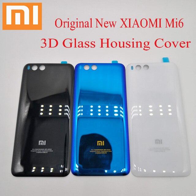 Funda Original xiaomi mi6 mi 6, carcasa trasera con batería, carcasa de cristal 3D, carcasa trasera de repuesto para xiaomi mi 6
