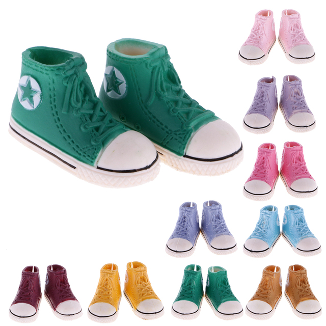4 Paar 1: 6 Canvas Sneakers Schuhe f��r Barbie Blythe Pulip Dolls Kleidung pYnAXi