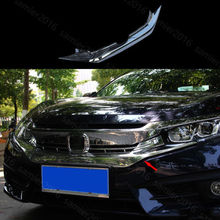 Fit For Honda Civic 2016 2017 Chrome Front Bumper Grille Grill Decorator Cover Trim