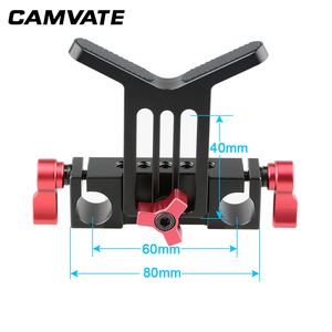 Image 2 - CAMVATE Lens Support Mount Rod Clamp Holder Bracket for 15mm Rod System Follow Focus C1107