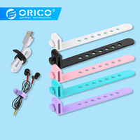 ORICO Silicone Cable Winder Earphone Wire Winder Adjustable Cable Organizer 5PCS for iphone huawei Earphone Cable Protector