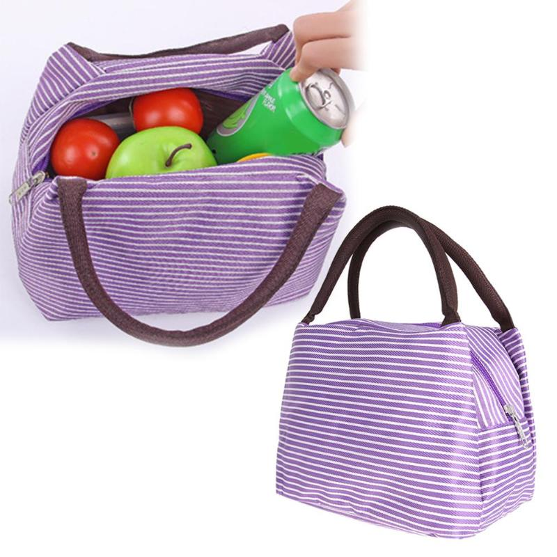 Multifunctional Portable Lunch Bag Organizer Holder Container Purple Food Picnic Lunch Bags for Women kids Men Cooler Lunch Box