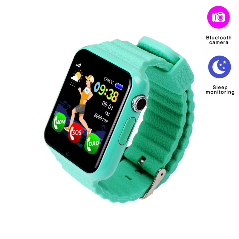 V7k Children Smart Watch Tracker Waterproof Smartwatch SIM Card Camera Kid SOS Emergency Security Anti-lost GPS for IOS Android espanson children security anti lost smart watch gps tracker with camera kid sos emergency for ios android waterproof baby watch