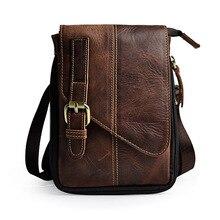 Retro Crazy Horse Echte Natürliche Leder Casual funciton Tasche männer Mini Schultertasche Messenger Bag Taille Gürtel Sling Pack