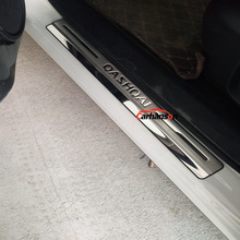 Car Accessories For Nissan Qashqai Door Sill J11 Scuff Plate Stainless Steel Door Sills Pedal Car Styling Sticker 2014 2015 2016 high quality built pedal cover threshold stainless steel door sill scuff plate for audi q5 2009 2014 car accessories car styling